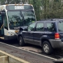 Head-on crash with bus blocks Boones Ferry Road, no one hurt